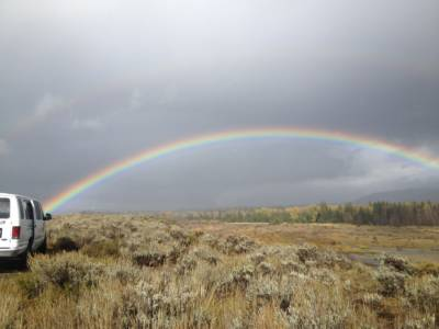 All Rainbows End At Tetonfloats, Grand Teton