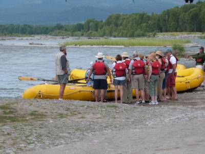 Guests Loading Raft