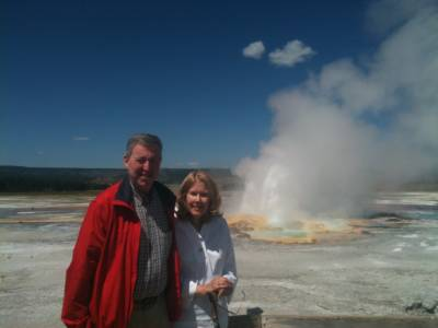 Happy Couple With Clepsydra Geyser